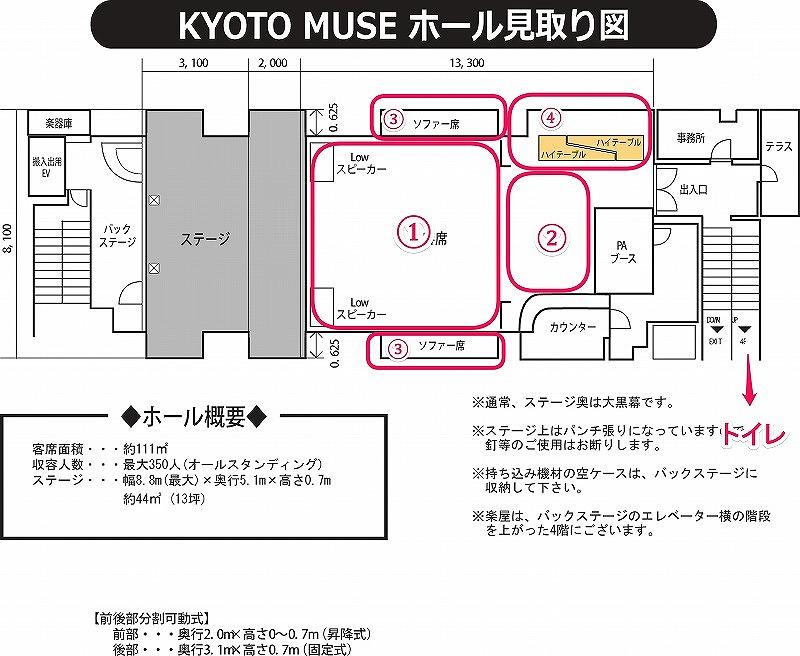 京都ミューズの客席イメージ