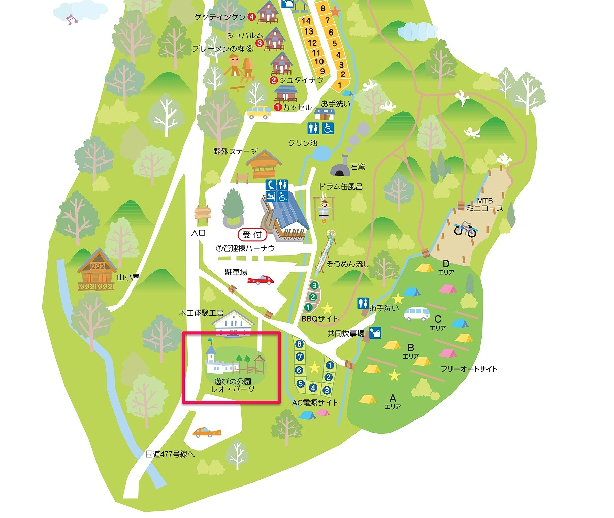 遊びの公園レオパークの場所