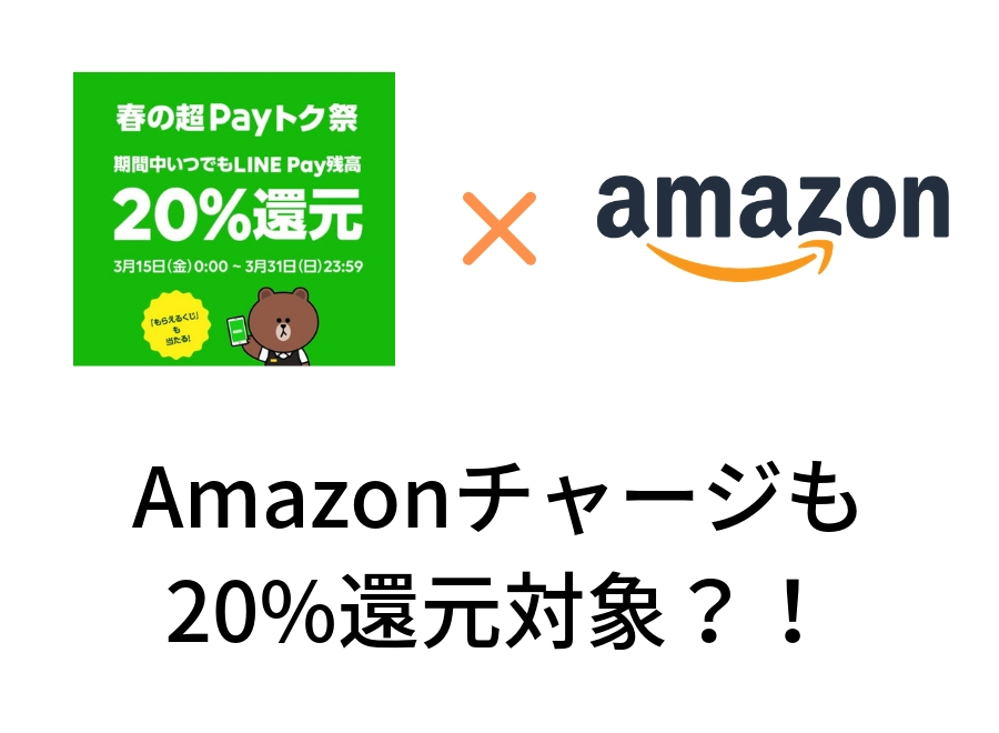 Amazonチャージも20%還元の対象