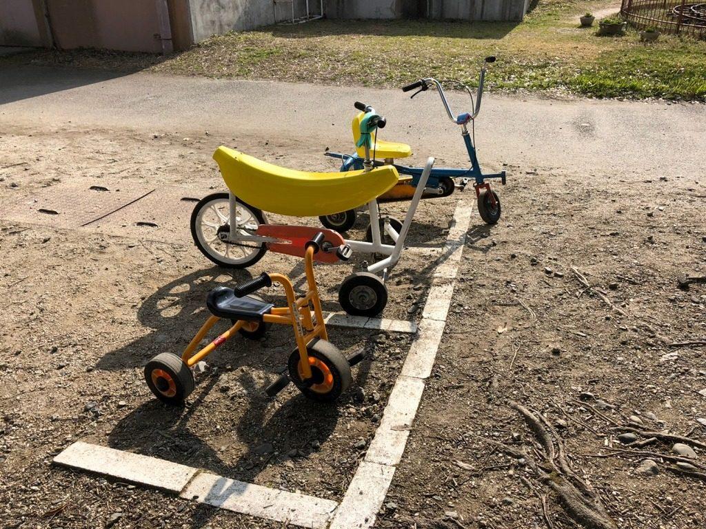 バナナの形の自転車