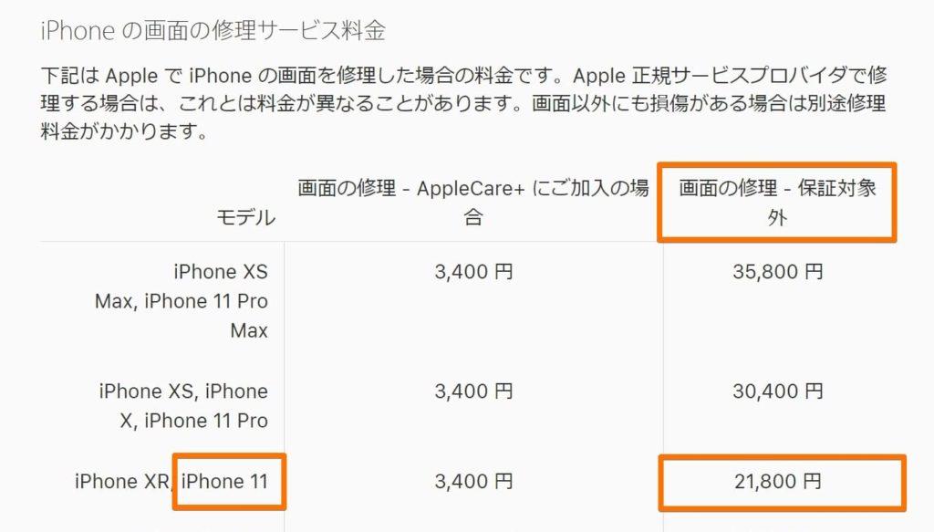 iPhone11の画面修理·画面交換