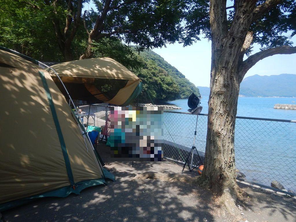 オーシャンビューのキャンプ